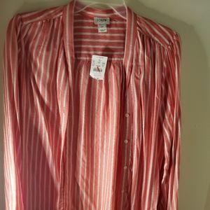 Striped JCrew X-Small bow blouse